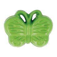 Kindermotiv - Kinderknopf Schmetterling grün (5604/1)