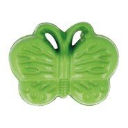Kunststof knopen - Kinderknoop vlinder groen (5604/1)*