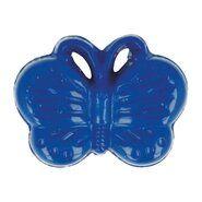 Kindermotiv - Kinderknopf Schmetterling kobaltblau (5604/1)