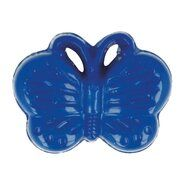 Knöpfe - Kinderknopf Schmetterling kobaltblau (5604/1)
