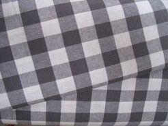 Baumwollstoffe - NB 5583-68 Boerenbont Karo grau 1.5 cm