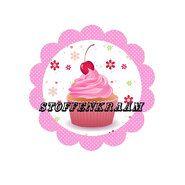 Roze stoffen - Full color applicatie Cup Cake roze