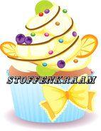 Applicaties - Full color applicatie Cup Cake multi