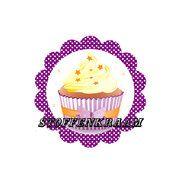 Applicaties - Full color applicatie Cup Cake paars