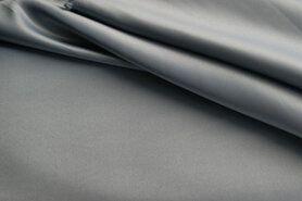 Carnavalsstoffen - NB 1675-070 Bruidssatijn grijs