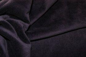 Fluweel stof - NB 3081-047 Nicky velours aubergine