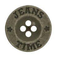 Effen / uni knopen - Knoop Jeans Time grijs (5542-20)*