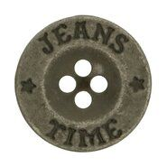 Metallknöpfe - Knopf Jeans Time grau (5542/20)