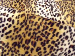 Polyester stof - NB 4506-36 Dierenprint kleine vlekjes ecru/cognac/zwart