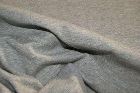 Stenzo stoffen - Stenzo 18600-16 Tricot uni grijs gemeleerd