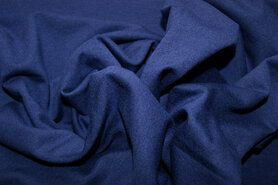 96%viscose, 4%spandex - NB 1773-006 Tricot uni blauw