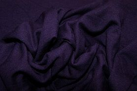 96%viscose, 4%spandex - NB 1773-046 Tricot uni donkerpaars