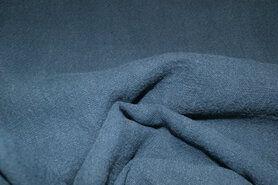 Linnen stof - NB 2155-006 Gewassen Ramie oudblauw