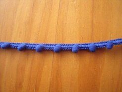 Bolletjes band - Mini bolletjes band kobaltblauw* op=op