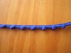Kugelband - Mini-Pomponborte kobaltblau