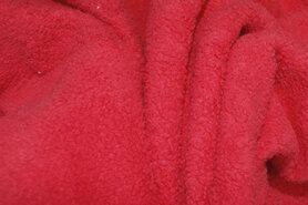 Fleece stoffen - RS 0233-015 Fleece katoen rood