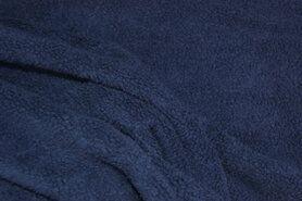 Fleece stoffen - RS 0233-008 Fleece katoen donkerblauw