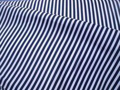 Boerenbont stoffen - NB 5574-008 Katoen streep donkerblauw