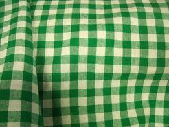 Boerenbont stoffen - NB 5635-025 Katoen boerenbont 1 cm groen
