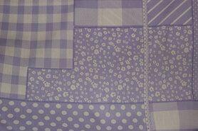 Boerenbont stoffen - NB 5634-043 Katoen patchwork lila