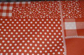Boerenbont stoffen - NB 5634-036 Katoen patchwork oranje