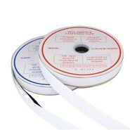Klittenband* - XVE11-550 Klittenband Plakbaar 2.5 cm breed Wit