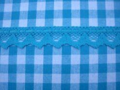 Kant band* - Sierband met lint turquoise (2127-287)