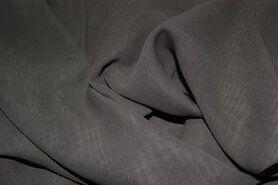 Voile - NB 3969-054 Chiffon uni taupe-grijs op=op