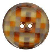 Runde Knöpfe - Kokosknopf Karo 5683/64 col 6 grau/senf/kobalt