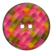 Ronde knopen - Kokos knoop ruit 5683/64 col 4 groen/rozetinten op=op
