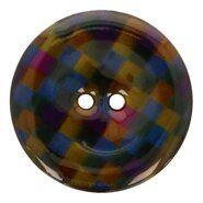 Knopen - Kokos knoop ruit 5683/64 col 8 legergroen/paars/blauw op=op