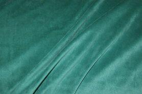 80% katoen, 20% polyester - NB 3081-023 Nicky velours licht petrol