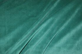 Fluweelachtige stof - NB 3081-023 Nicky velours licht petrol