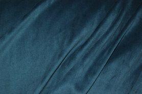 Fluweelachtige stof - NB 3081-124 Nicky velours petrol