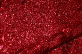 Kant stoffen - NB 3958-016 Kant gebloemd warm rood