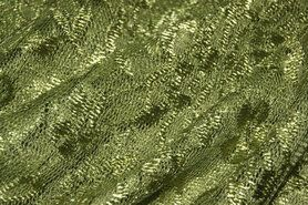 Nooteboom stoffen - NB 3958-026 Kant gebloemd mosgroen