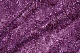 Kant stoffen - NB 3958-042 Kant gebloemd donker lila