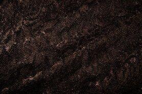 Kant stoffen - NB 3958-058 Kant gebloemd donkerbruin