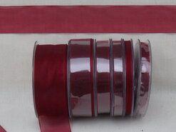 6 mm band - Organza de luxe 6 mm bordeaux (33)