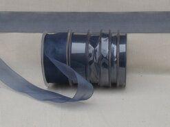 25 mm Band - Organza de luxe 25 mm dunkelgrau