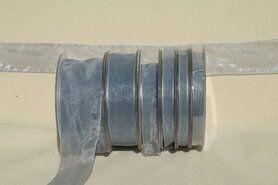 Organza band - Organza de luxe 38 mm grijs (59)