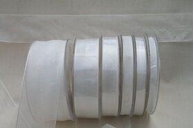 15 mm Band - Organza de luxe 15 mm weiss (01)