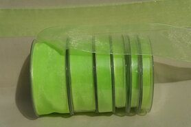 38 mm band - Organza de luxe 38 mm lime (80)