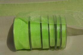Lime - Organza de luxe 25 mm lime (80)