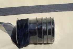 6 mm band - Organza de luxe 6 mm donkerblauw (38)