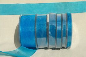 Organza band - Organza de luxe 38 mm turquoise (47)