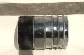 6 mm band - Organza de luxe 6 mm zwart (39)