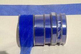 6 mm band - Organza de luxe 6 mm kobaltblauw (40)