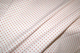 Boerenbont-Stoff - NB 5579-36 Baumwolle Punkte weiss/orange