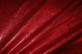 Carnavalsstoffen - NB 2213-015 Lamee (rekbaar) folie-achtig rood